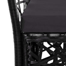 Load image into Gallery viewer, Outdoor Dining Set, Poly Rattan, Black (7 Piece)