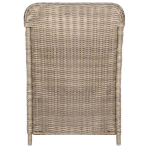 Outdoor Chairs with Cushions, Poly Rattan, Brown and Dark Grey (Set of 2)