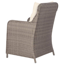 Load image into Gallery viewer, Outdoor Chairs with Cushions, Poly Rattan, Brown and Cream White (Set of 2)