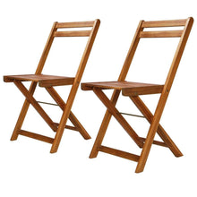 Load image into Gallery viewer, Outdoor Bistro Chairs, Solid Acacia Wood (Set of 2)