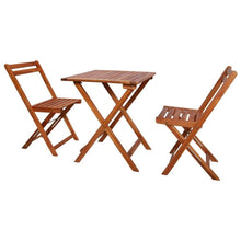 Load image into Gallery viewer, Folding Bistro Set, 3 Piece, Solid Acacia Wood