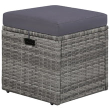 Load image into Gallery viewer, 4 Piece Garden Lounge Set, with Cushions, Poly Rattan, Grey