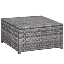 Load image into Gallery viewer, Garden Lounge Set, 6 Piece, with Cushions, Poly Rattan, Grey and Dark Grey