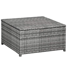 Load image into Gallery viewer, Garden Lounge Set, 8 Piece, with Cushions, Poly Rattan, Grey and Dark Grey
