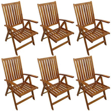 Load image into Gallery viewer, Outdoor Dining Set, 7 Piece, Solid Acacia Wood, Oil Finish