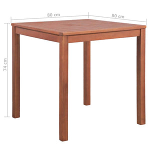 Garden Table, Solid Acacia Wood, 80x80x74cm