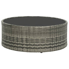 Load image into Gallery viewer, Garden Lounge Set, 7 Piece, with Cushions, Poly Rattan, Glass Tabletop, Grey