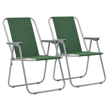 Load image into Gallery viewer, Folding Camping Chairs, Green, 52x59x80cm (Set of 2)