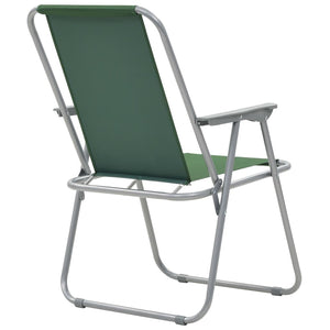 Folding Camping Chairs, Green, 52x59x80cm (Set of 2)