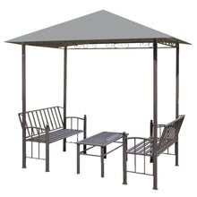 Load image into Gallery viewer, Garden Pavilion with Table and Benches, Anthracite, 2.5x1.5x2.4m