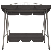Load image into Gallery viewer, Outdoor Convertible Swing Bench, with Canopy, Steel, Anthracite 198x120x205cm