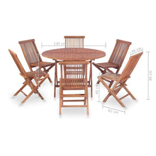 Load image into Gallery viewer, Outdoor Dining Set, 7 Piece, Solid Teak Wood
