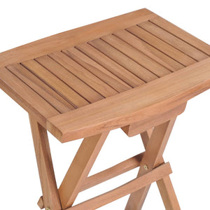Folding Bar Set, 3 Piece, Solid Teak Wood