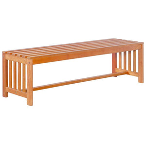 Garden Bench, Solid Eucalyptus Wood, 130cm
