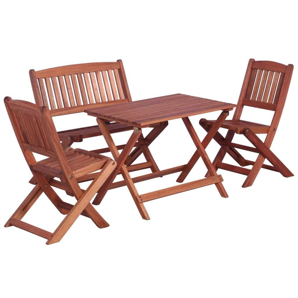 Outdoor Dining Set for Children, Solid Eucalyptus Wood, 4 Piece
