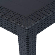 Load image into Gallery viewer, Garden Table, Plastic Rattan Look, Anthracite, 150x90x72cm