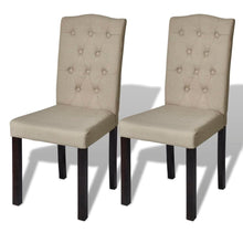 Load image into Gallery viewer, Dining Chairs, Fabric, Tufted, Beige (Set of 2)