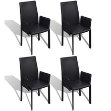 Load image into Gallery viewer, Dining Chairs, Faux Leather Upholstered, Black (Set of 4)