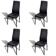 Load image into Gallery viewer, Dining Chairs, Artificial Leather, Iron Frame, Black (Set of 4)