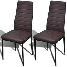 Load image into Gallery viewer, Dining Chairs, Artificial Leather, Iron Frame, Brown (Set of 2)
