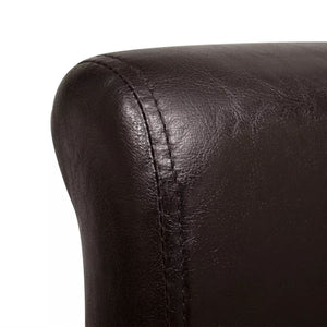 Dining Chairs, Artificial Leather Upholstery, Brown (Set of 4)