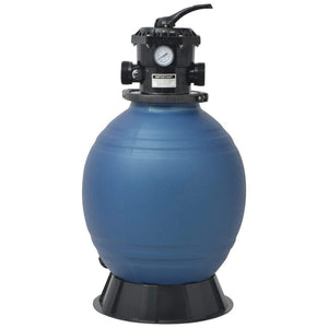 Pool Sand Filter with 6 Position Valve, Blue, 460mm