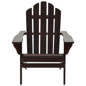 Garden Chair, with Ottoman, Wood, Brown