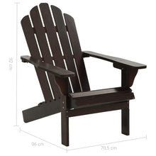 Load image into Gallery viewer, Garden Chair, Wood, Brown