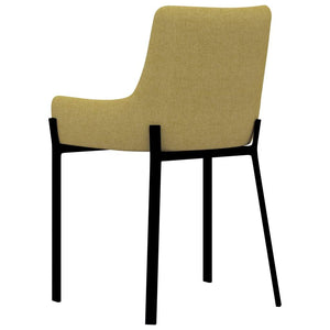 Dining Chairs, Fabric Upholstered, Yellow (Set of 2)
