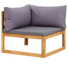 Load image into Gallery viewer, Garden Lounge Set, 5 Piece, with Cushions, Solid Acacia Wood