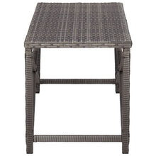 Load image into Gallery viewer, Garden Bench, Poly Rattan, Grey, 120cm