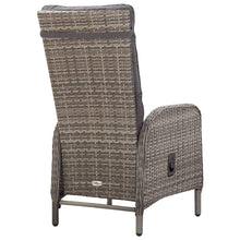 Load image into Gallery viewer, Outdoor Dining Set, 5 Piece, Poly Rattan and Acacia Wood, Grey