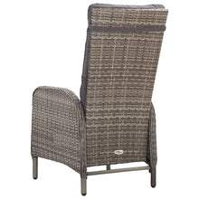 Load image into Gallery viewer, Outdoor Dining Set, 7 Piece, Poly Rattan and Acacia Wood, Grey and Light Wood
