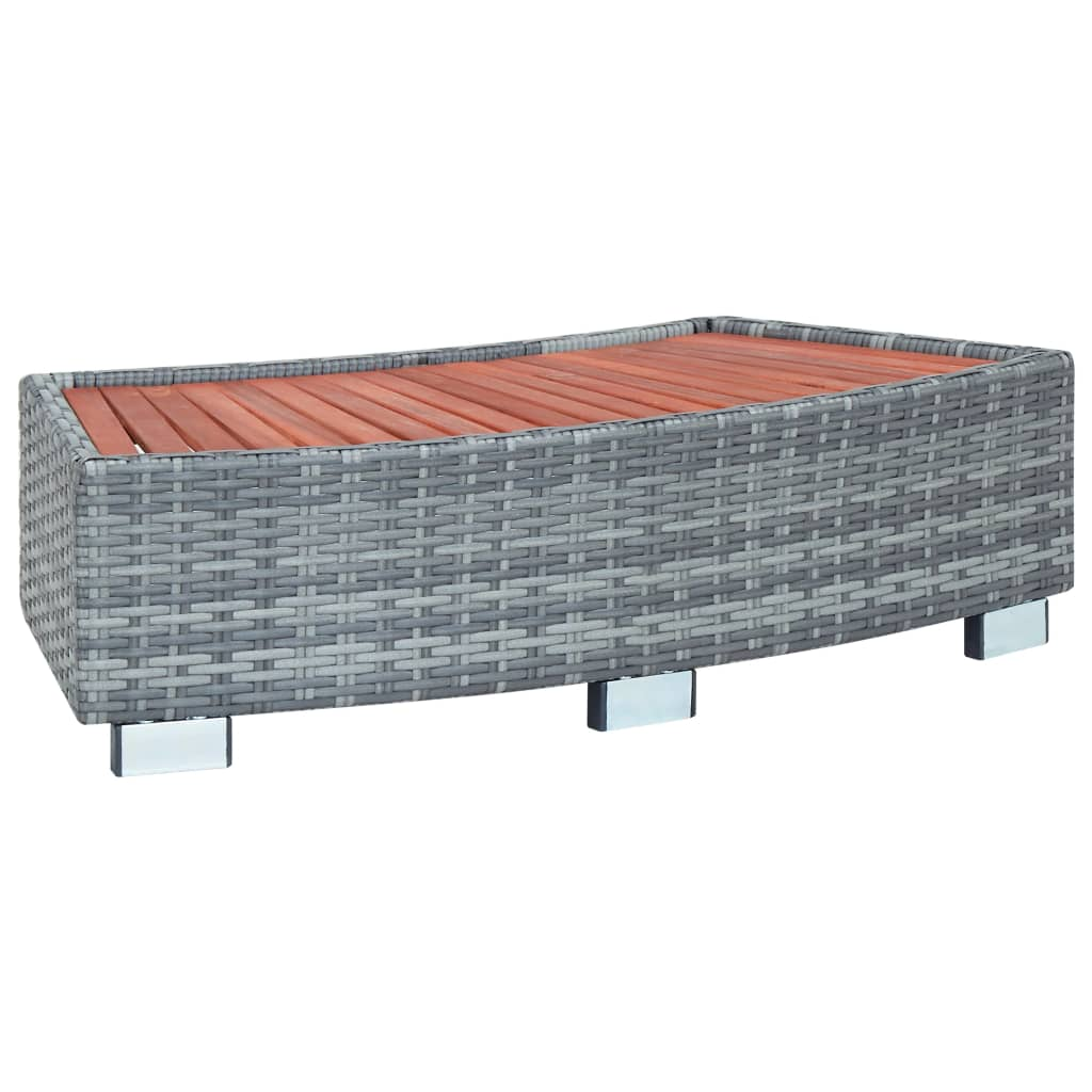 Spa Step, Poly Rattan, Grey, 92x45x25cm