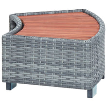 Load image into Gallery viewer, Spa Step, Poly Rattan, Grey, 92x45x25cm