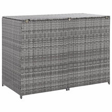 Load image into Gallery viewer, Double Wheelie Bin Shed, Poly Rattan, Anthracite, 148x77x111cm