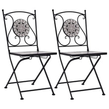Load image into Gallery viewer, Mosaic Bistro Chairs, Grey (Set of 2)