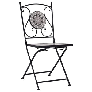 Mosaic Bistro Chairs, Grey (Set of 2)