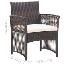 Load image into Gallery viewer, Sunbed with Cushion, Poly Rattan and Fabric, Black