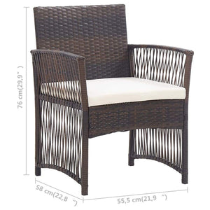 Sunbed with Cushion, Poly Rattan and Fabric, Black