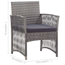 Load image into Gallery viewer, Sunbed with Cushion, Adjustable Backrest, Poly Rattan, Black