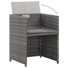 Load image into Gallery viewer, Bistro Set with Cushions, 3 Piece, Poly Rattan, Grey and Anthracite
