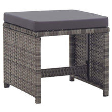 Load image into Gallery viewer, Outdoor Dining Set, 15 Piece, with Cushions, Poly Rattan, Anthracite