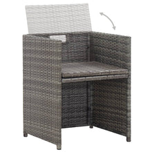 Load image into Gallery viewer, Outdoor Dining Set, 17 Piece, with Cushions, Poly Rattan, Steel, Anthracite