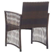 Load image into Gallery viewer, Garden Armchairs with Cushions, Poly Rattan, Brown (Set of 2)