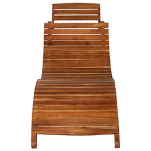 Load image into Gallery viewer, Sunlounger, with Table, Solid Acacia Wood, Brown
