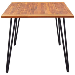Garden Table with Hairpin Legs, Solid Acacia Wood, 180x90x75cm