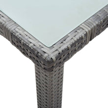 Load image into Gallery viewer, Garden Table, Poly Rattan, Grey, 150x90x75cm