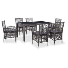 Load image into Gallery viewer, Outdoor Dining Set, Poly Rattan, (7 Piece)