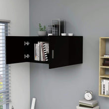 Load image into Gallery viewer, Cabinet, Wall-Mounted, Wood, Black, 80x39x40cm